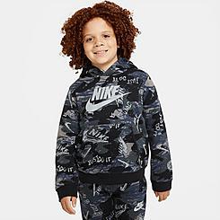 Boys' Nike Sportswear Club Fleece Printed Pullover Hoodie
