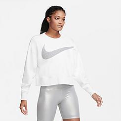 Women's Nike Dri-FIT Get Fit Fleece Sparkle Crew Training Top