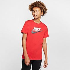 Boys' Nike Sportswear Faux Embroidery T-Shirt