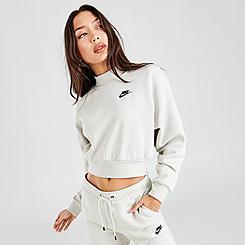 Women's Nike Sportswear Essential Fleece Mock Neck Sweatshirt