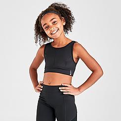 Girls' Nike Swoosh Luxe Longline Sports Bra