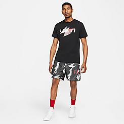 Men's Jordan Jumpman Air Allover Print Mesh Shorts
