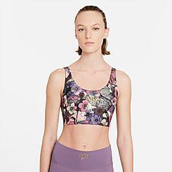 Women's Nike Dri-FIT Swoosh Femme Floral Strappy Light-Support Sports Bra