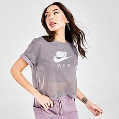 Women's Nike Sportswear Air Mesh Short-Sleeve Top