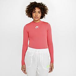 Women's Nike Sportswear Air Rib Long-Sleeve Mock Neck Shirt