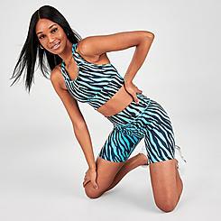 Women's Nike One 7 Inch Zebra Printed Bike Shorts