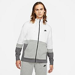 Men's Nike Sportswear Colorblock Jersey Full-Zip Hoodie