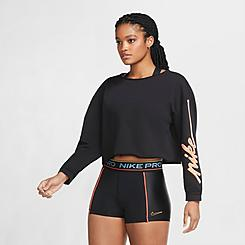 Women's Nike Femme Fleece Crop Crew Sweatshirt
