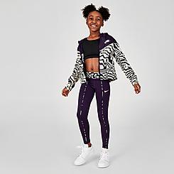 Girls' Nike One Zebra Print Leggings