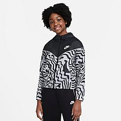 Girls' Nike Sportswear Zebra Printed Jacket