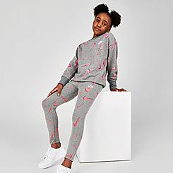 Girls' Nike Sportswear Favorites Swooshfetti Leggings