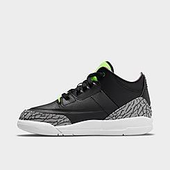 Little Kids' Air Jordan Retro 3 SE Basketball Shoes