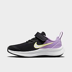 Girls' Little Kids' Nike Star Runner 3 Hook-and-Loop Running Shoes
