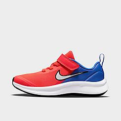 Boys' Little Kids' Nike Star Runner 3 Hook-and-Loop Running Shoes