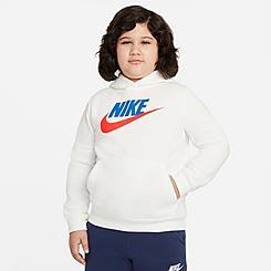 Kids' Nike Sportswear HBR Club Fleece Hoodie (Plus Size)