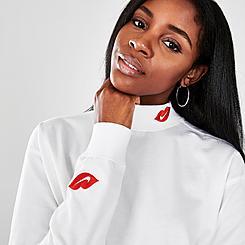 Women's Nike Sportswear Lips Long-Sleeve Mock Neck Shirt