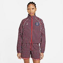 Women's Jordan Paris Saint-Germain Plaid Woven Jacket