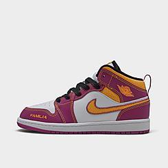 "Little Kids' Jordan 1 Mid ""Dia De Muertos"" Basketball Shoes"