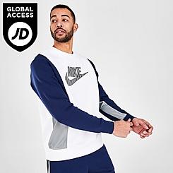Men's Nike Sportswear Hybrid Fleece Crewneck Sweatshirt