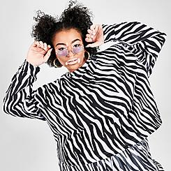 Women's Nike Sportswear Icon Clash Animal Print Crew Sweatshirt (Plus Size)