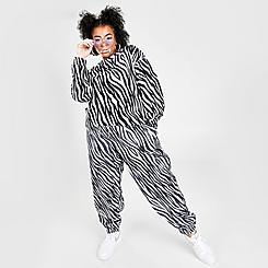 Women's Nike Sportswear Icon Clash Animal Print Woven Jogger Pants (Plus Size)