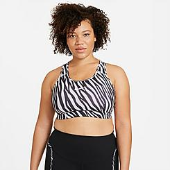 Women's Nike Dri-FIT Swoosh Icon Clash Animal Print Medium-Support Sports Bra (Plus Size)