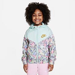 Girls' Nike Sportswear Printed Windrunner