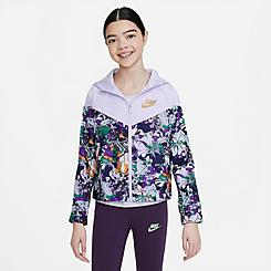 Girls' Nike Sportswear Printed Windrunner