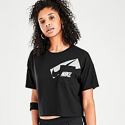 Women's Nike Dri-FIT Graphic Pocket Crop Training Top