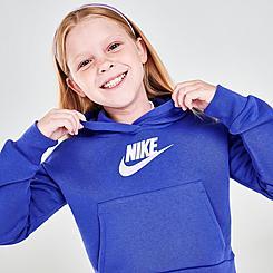 Girls' Nike Sportswear Club Fleece High-Low Pullover Hoodie