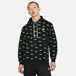 Men's Nike Sportswear Allover Script Club Hoodie
