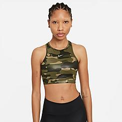 Women's Nike Dri-FIT Swoosh One-Piece Pad High-Neck Medium-Support Sports Bra