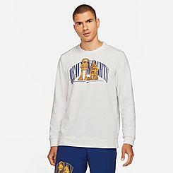 Men's Nike Dri-FIT Stories Fleece Crewneck Training Sweatshirt