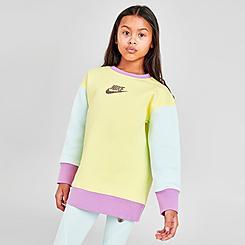Girls' Nike Sportswear Colorblock Oversized Sweatshirt