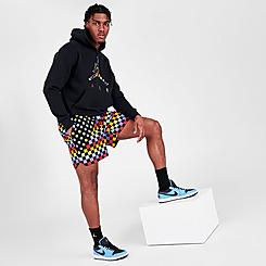 Men's Jordan Legacy AJ3 Allover Checker Printed Shorts