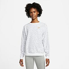 Women's Nike Sportswear Allover Print Fleece Crewneck Sweatshirt