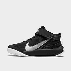Little Kids' Nike Team Hustle D 10 FlyEase Basketball Shoes