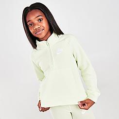 Girls' Nike Sportswear Club Fleece Half-Zip Pullover Sweatshirt