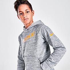 Boys' Nike Therma-FIT Graphic Swoosh Training Hoodie