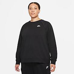 Women's Nike Sportswear Essential Fleece Crewneck Sweatshirt (Plus Size)