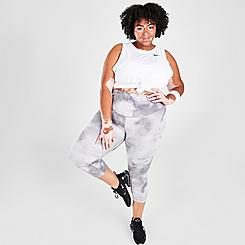 Women's Nike One Icon Clash Mid-Rise Cropped Leggings (Plus Size)