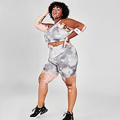Women's Nike Icon Clash Tie-Dye Bike Shorts (Plus Size)