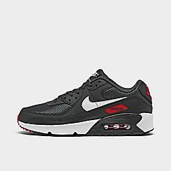 Boys' Big Kids' Nike Air Max 90 Leather Casual Shoes