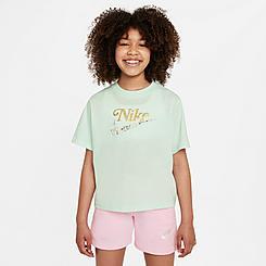 Girls' Nike Sportswear Boxy Floral Futural T-Shirt