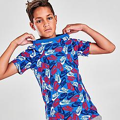 Boys' Nike Brand Toss Allover Print Futura T-Shirt