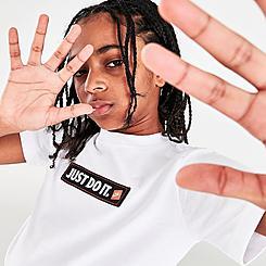 Big Kids' Nike Sportswear Just Do It Bumper Sticker T-Shirt