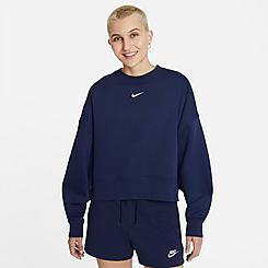 Women's Nike Sportswear Collection Essentials Oversized Fleece Crewneck Sweatshirt