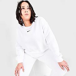 Women's Nike Sportswear Collection Essentials Oversized Fleece Crew Sweatshirt (Plus Size)