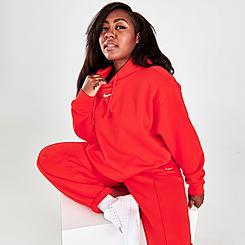 Women's Nike Sportswear Essential Collection Oversized Fleece Hoodie (Plus Size)