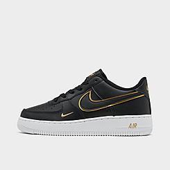 Girls' Big Kids' Nike Air Force 1 LV8 Metallic Casual Shoes